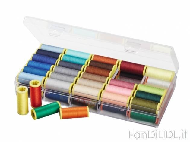 Set filo per cucito pulizia della casa sistemazione for Lidl offerte della settimana macchina da cucire