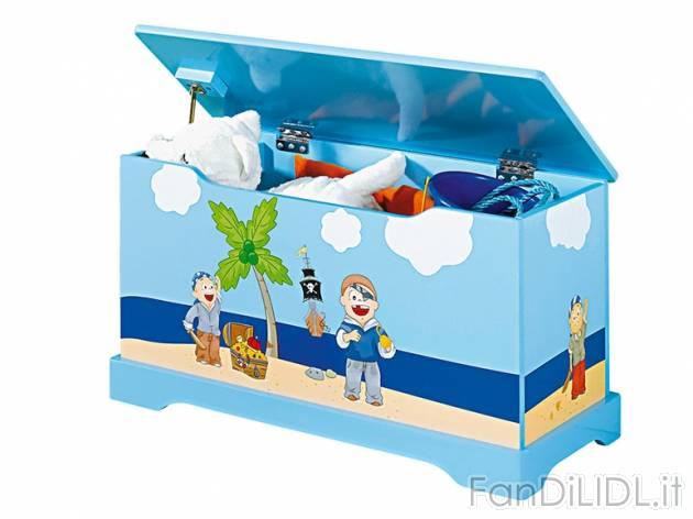 Cassapanca per giocattoli per bambini fan di lidl for Cassapanca x bambini