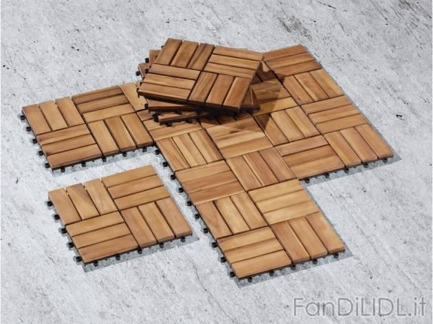 Piastrelle in legno giardino fan di lidl - Piastrelle in plastica da giardino ...