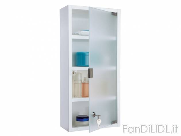 Armadietto per medicinali bagno accessori interno fan for Armadietto bagno