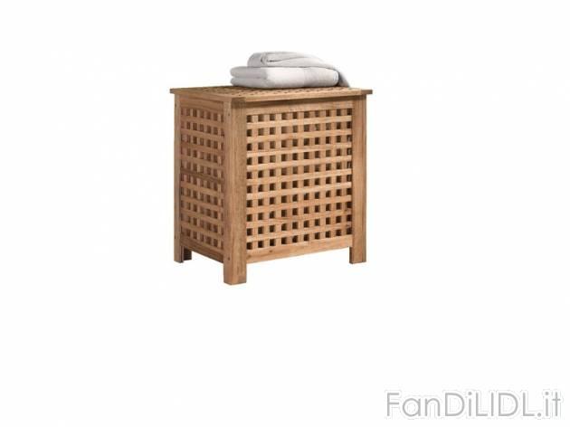 Cesto portabiancheria bagno accessori interno fan di lidl for Portabiancheria bagno