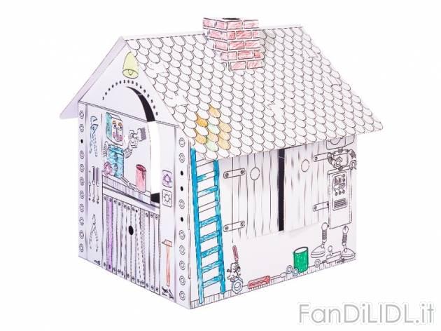 Casetta in cartone per bambini fan di lidl - Casetta in cartone da colorare ...