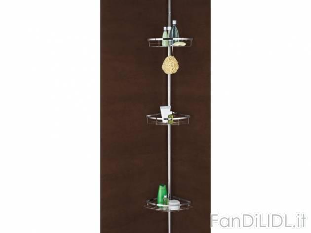 Portaoggetti telescopico bagno accessori interno fan - Portaoggetti bagno ...