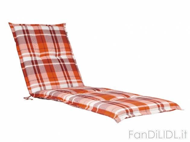 cuscino per lettino giardino fan di lidl. Black Bedroom Furniture Sets. Home Design Ideas