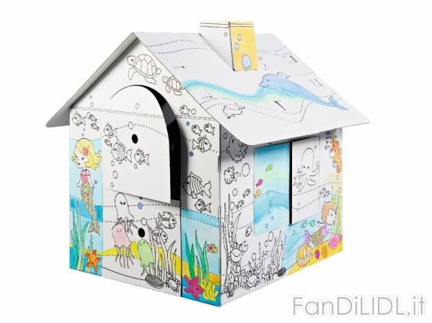 Casetta in cartone per bambini fan di lidl - Casette di cartone da costruire ...