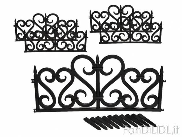 Set recinzione per giardino fan di lidl for Recinzione aiuole
