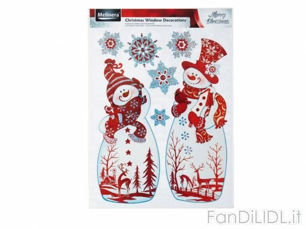 Adesivi natalizi arredo interni arredamento casa fan - Adesivi per finestre ...