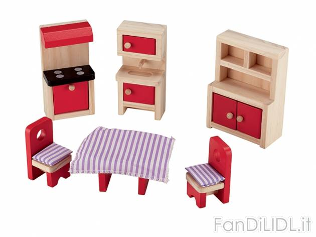Set mobili in miniatura per bambini fan di lidl - Bagno in miniatura ...