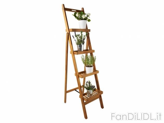 Portavasi A Scaletta In Legno : Scaletta portavasi giardino fan di lidl