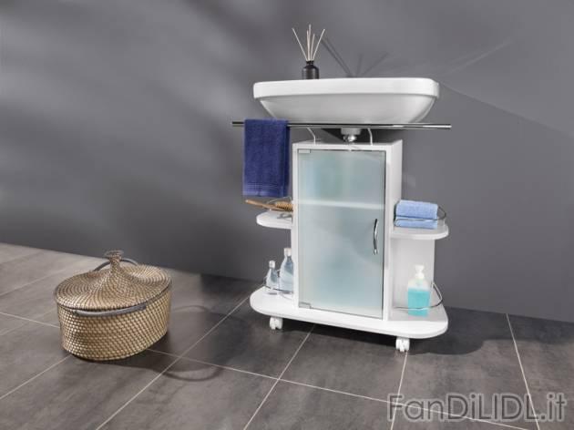 Mobiletto sottolavabo bagno accessori interno fan di lidl - Sottolavabo per bagno ...