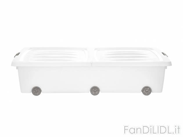 Cassetto Sotto Letto Con Ruote : Contenitore sottoletto pulizia della casa sistemazione fan di lidl
