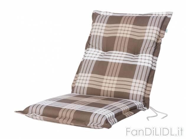 Cuscino per sedia giardino fan di lidl for Offerte giardino