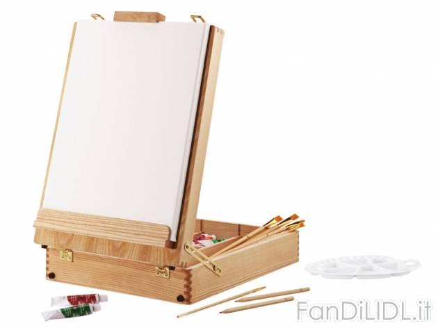 Set cavalletto da articoli per ufficio cartacei industriali fan di lidl - Cavalletto da pittore da tavolo ...