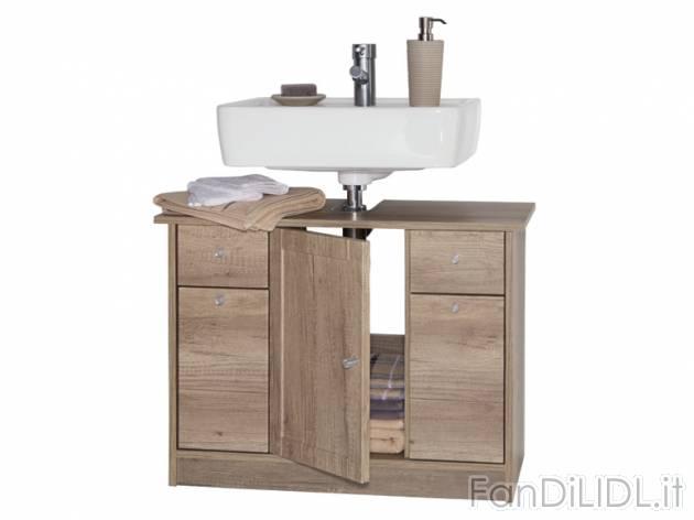 mobile sottolavabo bagno accessori interno fan di lidl