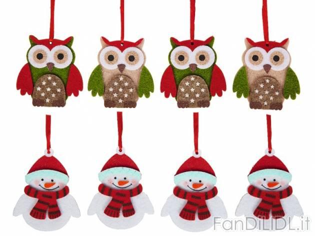 Decorazioni natalizie feste regali babbo di natale - Decorazioni natalizie in feltro ...