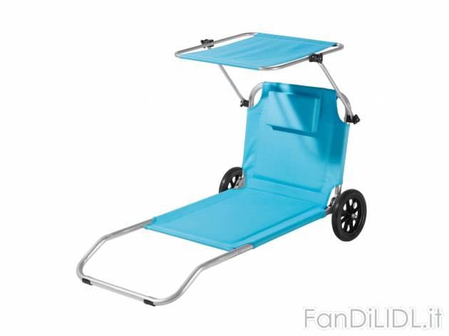 Sdraio Trolley Da Spiaggia Lidl.Sdraio Trolley Da Abbigliamento Sportivo Sport E