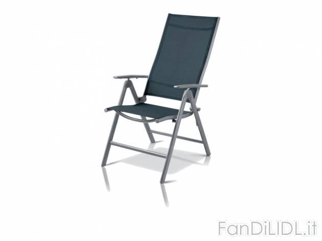 Sedia A Sdraio Alluminio.Sedia Sdraio In Giardino Fan Di Lidl
