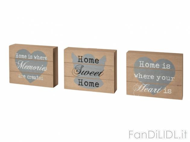 Decorazioni In Legno Per La Casa : Decorazioni in legno arredo interni arredamento casa fan di lidl