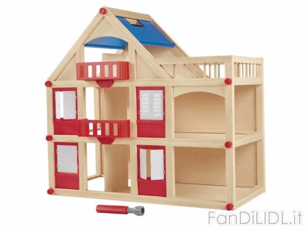 Casa delle bambole per bambini fan di lidl - Casa delle bambole in legno ikea ...