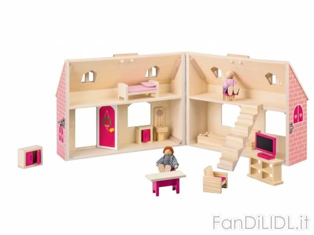 Casa delle bambole per bambini fan di lidl for Prezzo casa in legno