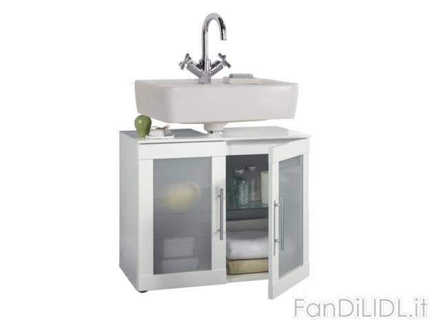 Mobiletto sottolavabo bagno accessori interno fan di lidl