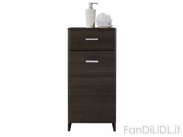 Mobiletto per il bagno accessori interno fan di lidl