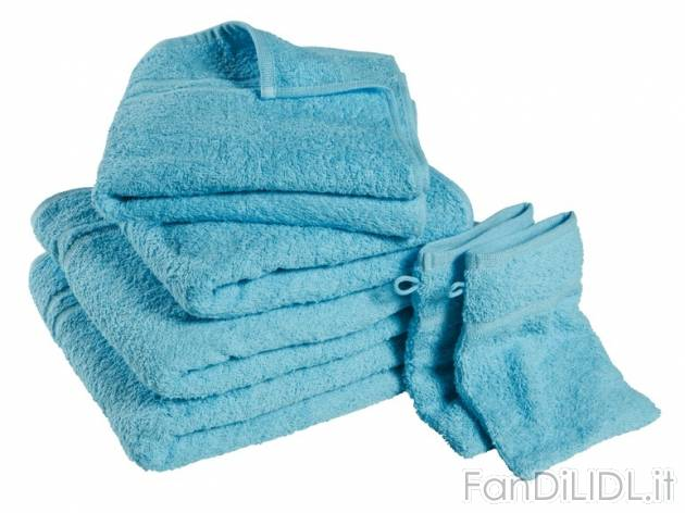 Set asciugamani bagno accessori interno fan di lidl - Asciugamani bagno offerte ...