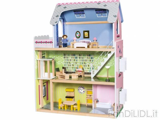 Casa delle bambole per bambini fan di lidl - Casa di legno per bambini ...