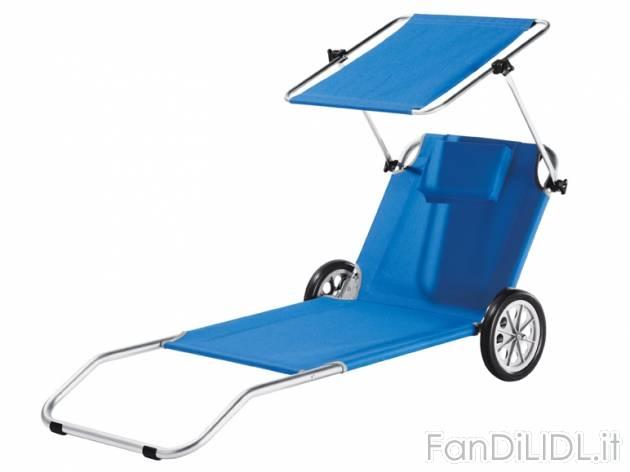 Sdraio Con Ruote Da Spiaggia.Sdraio Trolley Da Sport E Ricreazione Fan Di Lidl