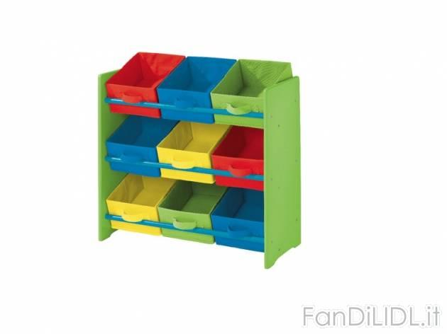 Mobili Portagiochi Per Bambini : Scaffale portaoggetti per bambini fan di lidl